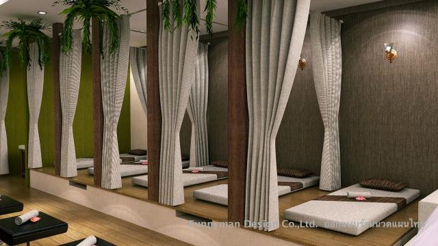 ออกแบร้านสปานวดไทย