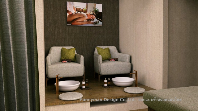 massage spa shop design
