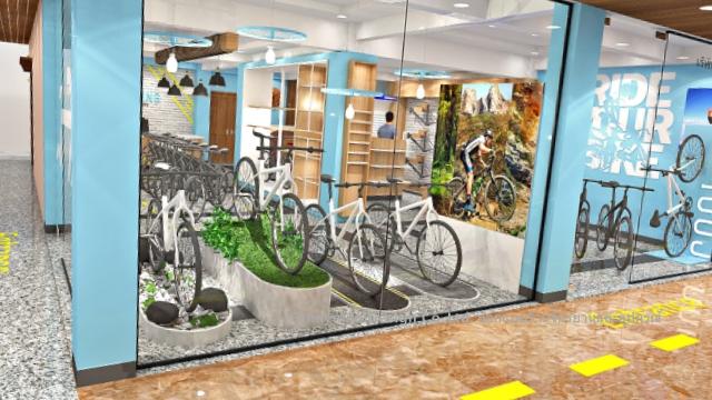 ออกแบบร้านจำหน่ายรถจักรยาน
