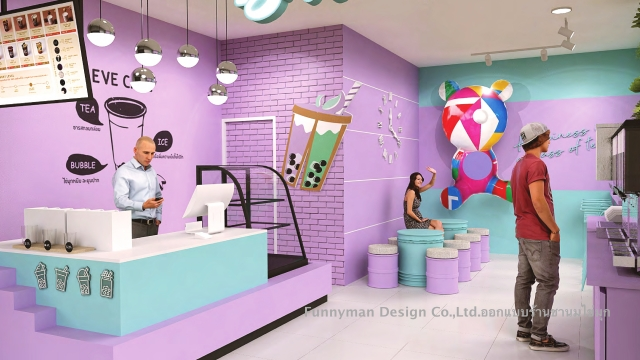 bubble tea shop design