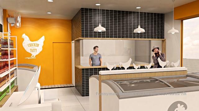 ออกแบบร้านอาหารแช่แข็ง