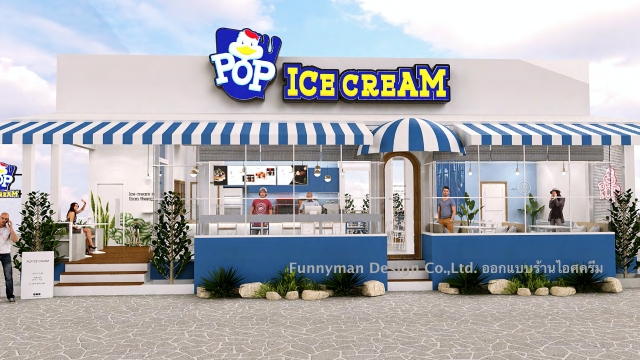 ice cream shop design