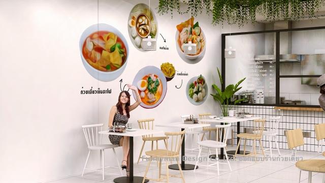 รับออกแบบร้านอาหารในปั๊ม ปตท