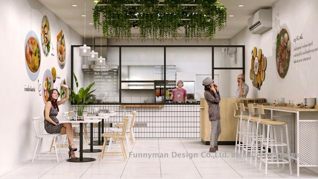ออกแบบร้านอาหารในปั๊ม
