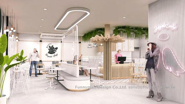 ออกแบบร้านอาหารใน  food villa