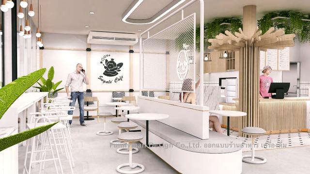 รับออกแบบร้านอาหาร  restaurant