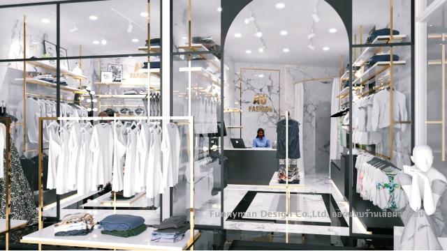 รับออกแบบร้านขายเสื้อผ้า แฟชั่น