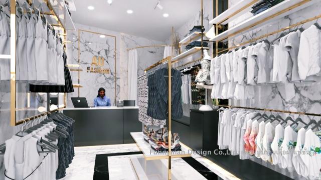 รับออกแบบร้าน clothes shop
