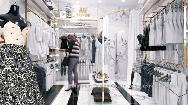 ออกแบบร้านเสื้อผ้าผู็หญิง