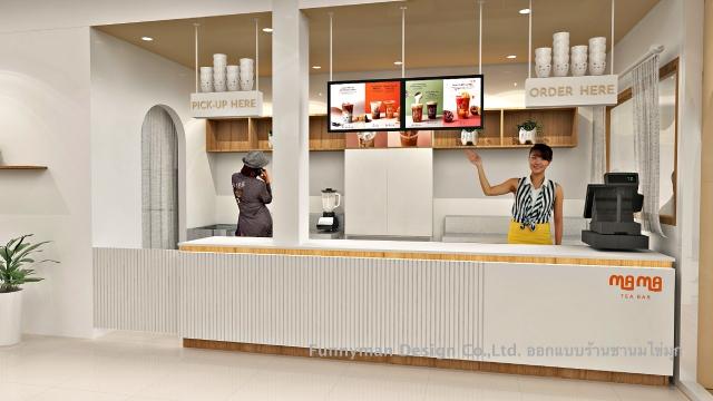 ออกแบบร้านเครื่องดื่ม ร้านชานมไข่มุก