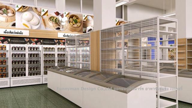 ออกแบบร้านอาหารแช่แข็ง  frozen food store design