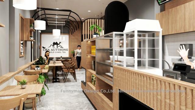 ออกแบบร้าน pearl milk shop design