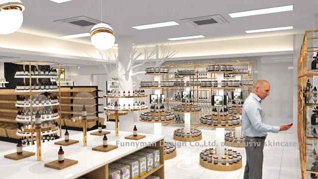 skincare store design