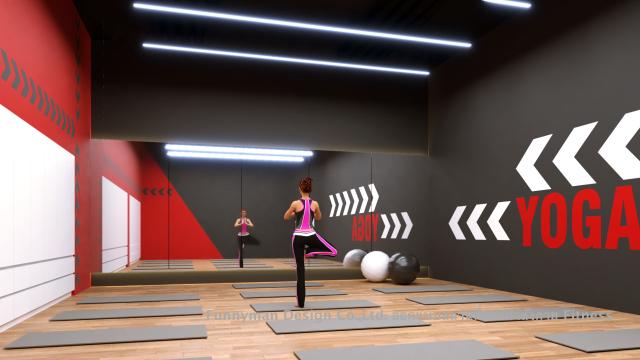 ออกแบบห้องเรียนโยคะ ออกแบบห้อง yoga