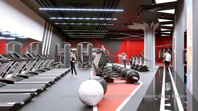 ออกแบบสถานที่ออกกำลังกาย ยิม fitness ออกแบบ fitness