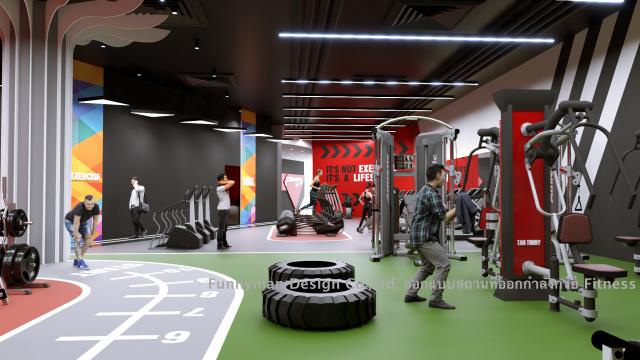 ออกแบบห้อง fitness ออกแบบห้องฟิตเนส