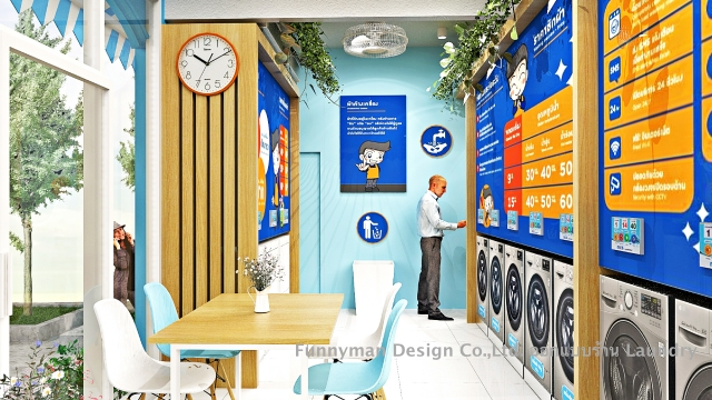 wash and dry shop design