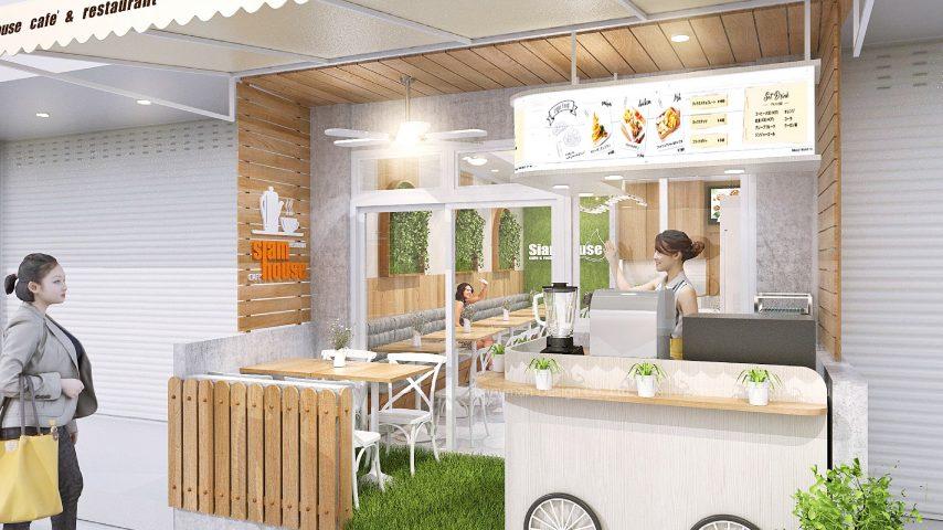 แบบร้านอาหารขนาดเล็กในตึกแถว