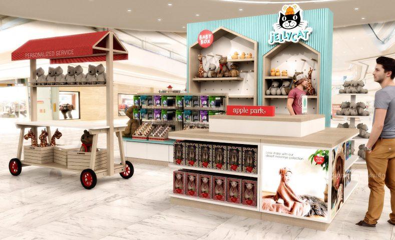 ออกแบบร้านตุ๊กตา ของเล่นเด็ก