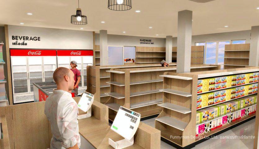 ออกแบบร้าน minimart