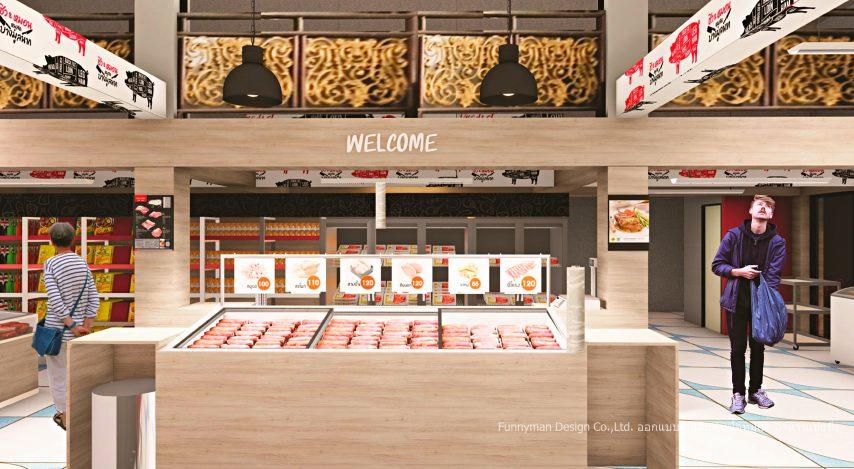 frozen food shop design fresh pork shop design