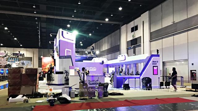 ผลิต และ ติดตั้ง บูธ งาน Twitch ในงาน Thailand Gameshow  พร้อมรับรางวัล บูธ ดีเด่น