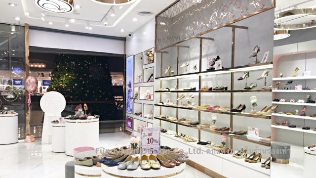 shoe shop decorated