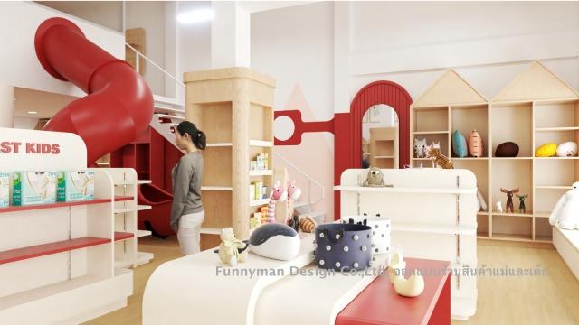 ออกแบบร้านสินค้าแม่และเด็ก เด็กแรกเกิด